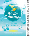 hello summer beach party poster background  23571749