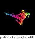 vector, kick, male 23572402