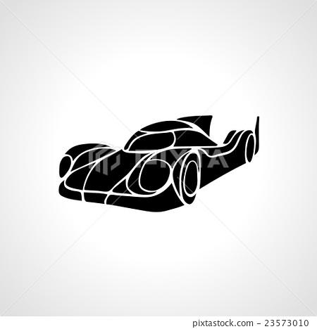 Classic Car Silhouette Vector Retro Hot Rod Stock Illustration