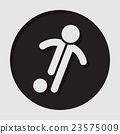information icon - football, soccer player 23575009