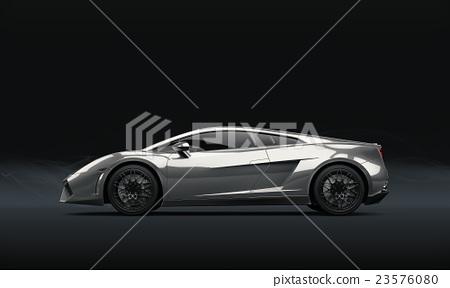 Super sport car on dark background 23576080