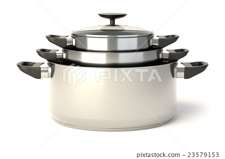 Stainless steel pots 23579153