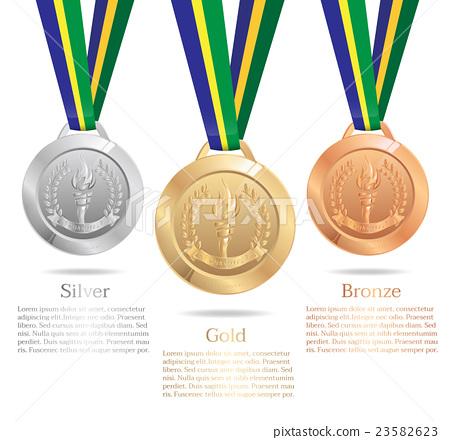 Gold medal, Silver medal, Bronze medal 23582623