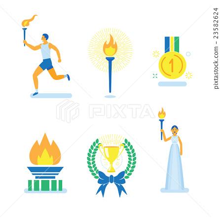 The ceremony of sports tournament, Vector info-gra 23582624