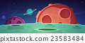 Cartoon Game Space Background 23583484