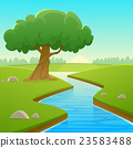 Summer Cartoon Landscape 23583488