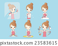 young woman is doing housework 23583615