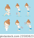 sport woman making variety of expressions 23583623