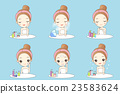 woman is doing beauty care 23583624