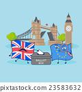 EU flag and British flag 23583632