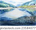 Sketch of Iwakuni Kintai Bridge Nishikawa 23584077