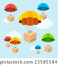 parachute, box, delivery 23585584