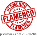 flamenco red grunge round vintage rubber stamp 23586286