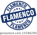 flamenco blue grunge round vintage rubber stamp 23586290