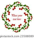 Frame - wreath. Vector. 23588089