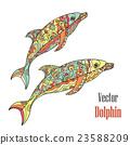 海豚 抠图 白底 23588209
