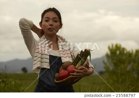 农业女孩画像 23588797