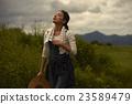 农业女孩画像 23589479