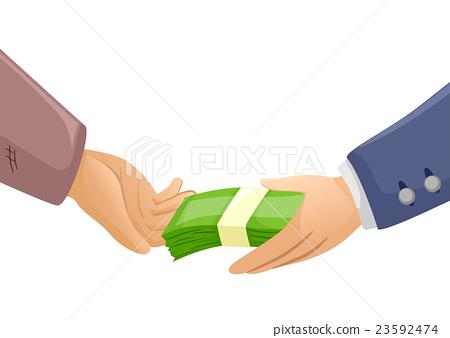 Hands Rich Poor Money 23592474