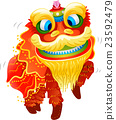 Chinese New Year Lion Dance Costume 23592479