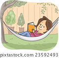 Girl Book Hammock Garden Read 23592493