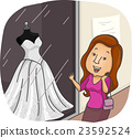 Girl Wedding Dress Window Shopping 23592524