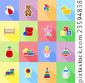 baby toys and accessories flat icons vector 23594838