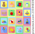 baby toys and accessories flat icons vector 23594839
