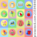 baby toys and accessories flat icons vector  23594840