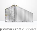 Cargo container vector 23595471