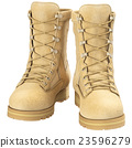 Military boots uniforms, front view 23596279