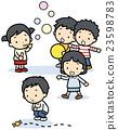 矢量 演奏 孩子 23598783