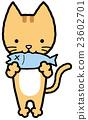 魚を食べる猫 23602701