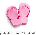 Pink flip flops. 23604141