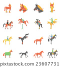 Vector Horse icons set. 23607731