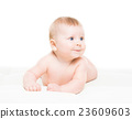 Portrait of a cute smiling infant baby 23609603