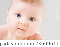 Portrait of a cute smiling infant baby 23609611
