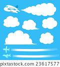 cloud, clouds, airplane 23617577