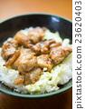 Tandoori chicken on rice 23620403
