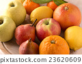 Fresh fruits on wooden board 23620609