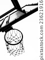 Old basketball hoop 23621916
