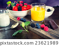 Bowl of berries. Healthy breakfast. 23621989
