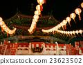 요코하마 차이나 타운의 마조 묘 등불 23623502