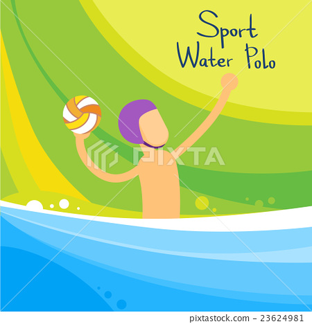Water Polo Player Game Sport Competition 23624981