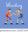 Wrestling Two Wrestler Opponent Sport Competition 23625109