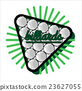 Color vintage billiard emblems 23627055