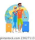 Couple Summer Vacation Travel Illustration 23627113