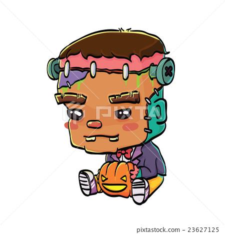 Cute Halloween Character - Frankenstein 23627125