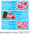 Set of Horizontal Banners about confectionery 23627227