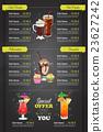 Restaurant vertical color cocktail menu 23627242